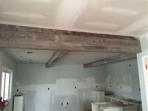 wrapped  support beams    kitchen   yr  wood   general store  madison