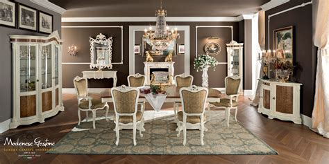 sala da pranzo classica classical dining room with ivory furniture enriched with