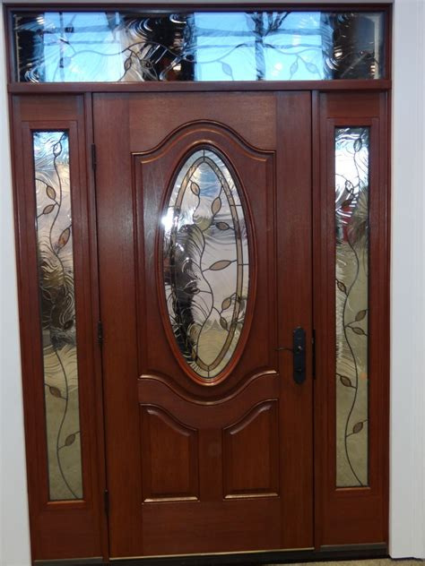 decorative front door glass exterior interior doors