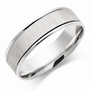 Men39s 9ct White Gold Wedding Ring 0005017 Beaverbrooks