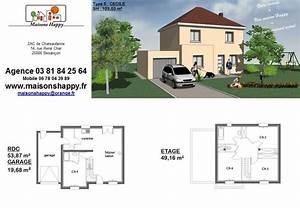 Plan Maison A Etage : plan maison r 1 90m2 ~ Melissatoandfro.com Idées de Décoration