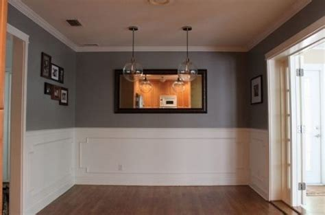 gray dining room glidden s granite gray before and