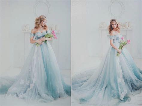 ethereal feminine  utterly romantic  ombre blue