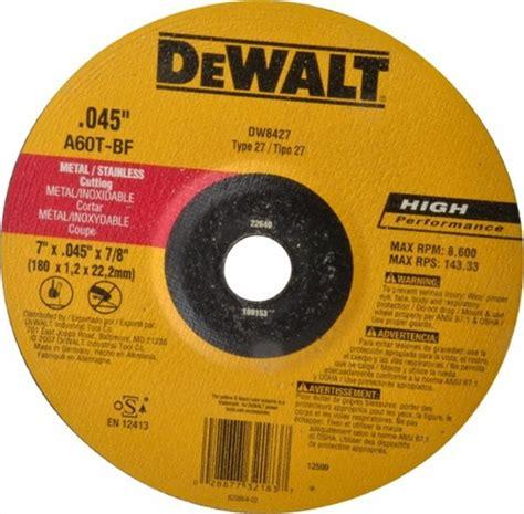 dewalt  thin metal cutting wheel type  dw