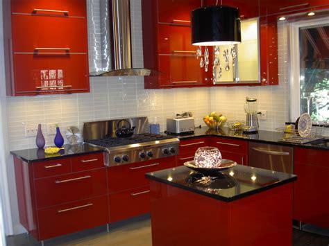 Ikea Kitchen Abstrakt Red In South Orange-contemporary