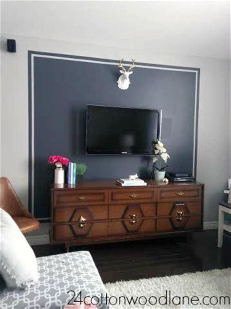 dark grey tv accent wall tv wall decor wall  tv