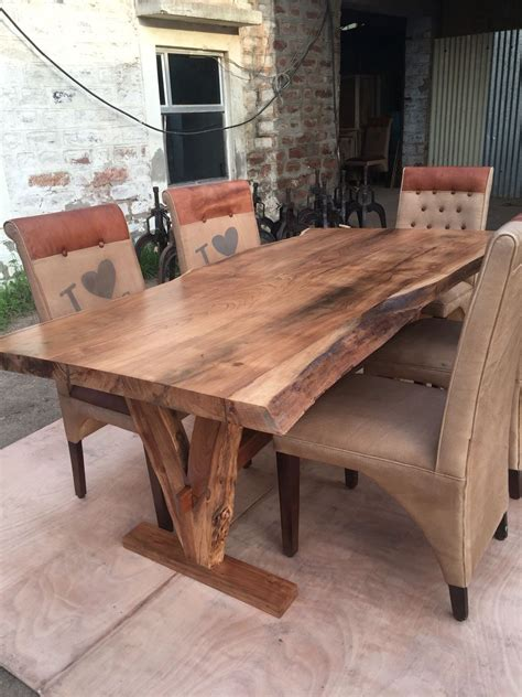 wooden kitchen table yosemite live edge table acacia solid wood solid wood
