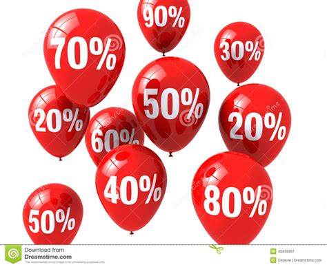 Discount Balloons Stock Illustration
