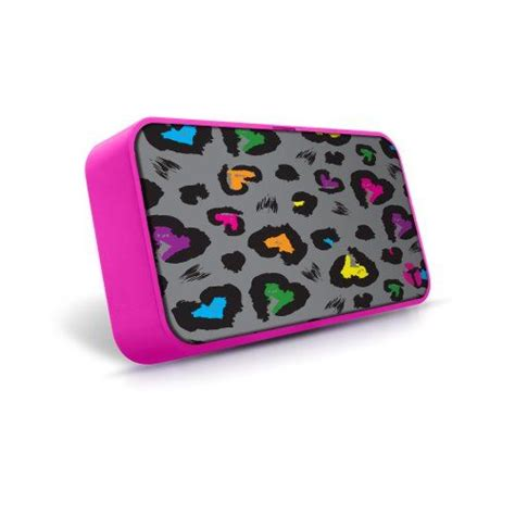 foto de Introducing Yak Pak Soundpad Speaker Grey Heart Leopard