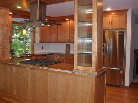 kitchen cabinet columns this macnsons kitchen remodel features wood and 2421