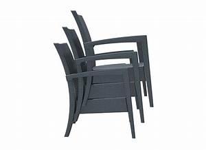 Chaise En Résine Tressée : chaise de jardin resine tressee salon de jardin bas en bois reference maison ~ Dallasstarsshop.com Idées de Décoration