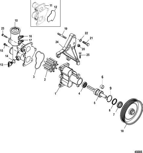 sea water pump assembly  mercruiser    mag