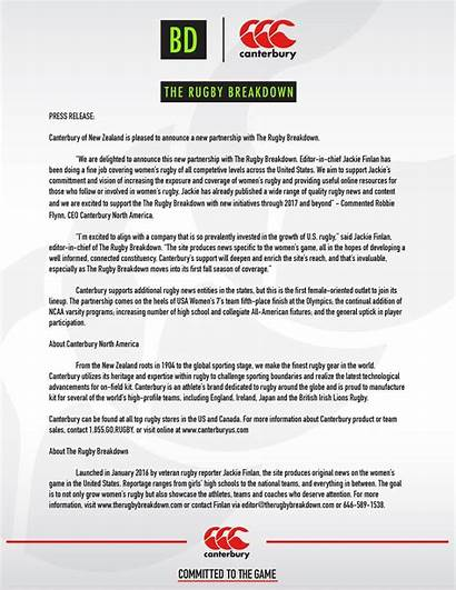 Press Release Partnership Example Releases Types Canterbury