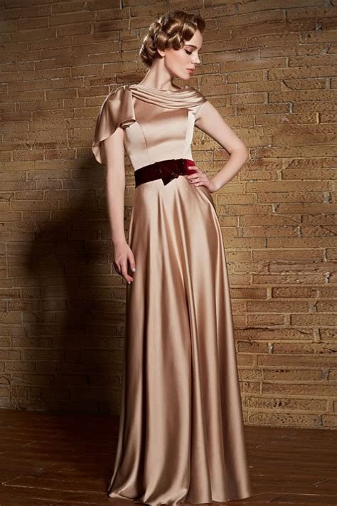 floor length champagne formal dress evening prom gowns thecelebritydresses