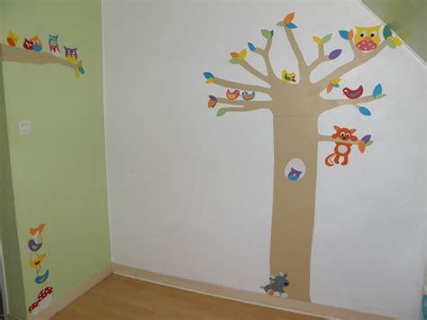 chambre foret déco chambre forêt structure arbre et branche en bois