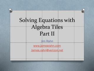 ppt algebra tiles powerpoint presentation id 1188232