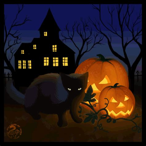 free halloween best happy 2017 animated 3d gif greeting card image picture