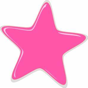Pink Star Editedr Clip Art at Clker.com - vector clip art ...