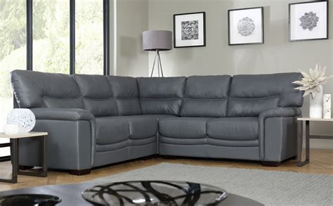canapé faux cuir grey leather corner sofas uk refil sofa