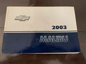 2003 03 Chevy Chevrolet Malibu Owners Owner U0026 39 S Operator