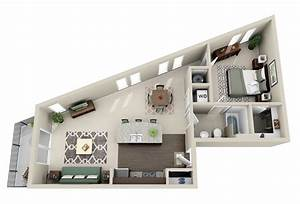 50 one 1 bedroom apartment house plans architecture With plan maison avec appartement
