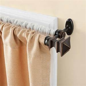 Kenney arts and crafts 28 in 48 in telescoping 5 8 in for Arts and crafts curtain rods