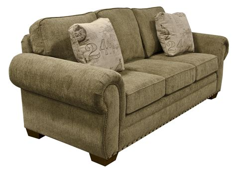 Microfiber Sofas With Nailhead Trim by Walters Sofa With Nailhead Trim Zak S
