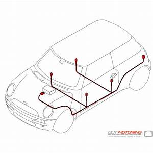 61116926490 Mini Cooper Replacement Harman Kardon Audio Wiring Harness