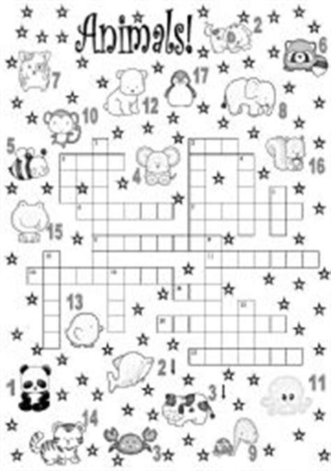 Free Worksheets 187 4 Times Table Worksheet Printable Free Teaching Worksheets Animals Crossword
