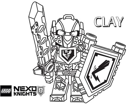 nexo knights clay coloring coloring pages