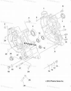 Polaris Atv 2012 Oem Parts Diagram For Engine  Crankcase