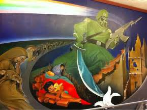 Denver International Airport Murals Artist Conspiracy Theorist Assemble There S Some Fu Kery Going On At The Denver Airport Caveman