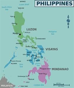 Een blik op de kaart van de Filipijnen - Zuidoost-Azië