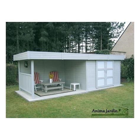 abri de jardin toit plat 28mm moderne solid arhus