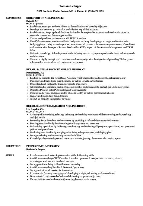 Airline Resume by Airline Sales Resume Sles Velvet