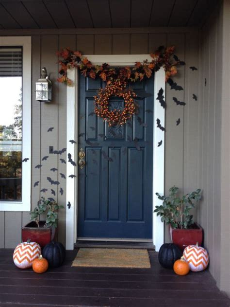 cool halloween front door decor ideas digsdigs
