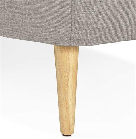 canape convertibe canapé droit 3 places winston en tissu gris capitonné