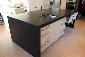 Plan De Travail Noir Brillant : plans de travail de cuisine marbrerie bonaldi ~ Dailycaller-alerts.com Idées de Décoration