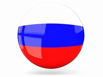 Russia Round Russian Icon Glossy Flag Platform