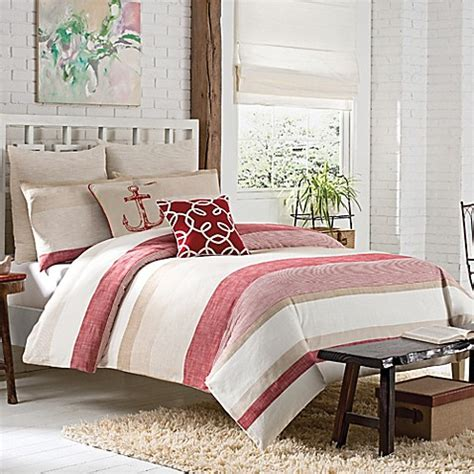 Buy Kas Seneca Twin Duvet Cover In Red From Bed Bath & Beyond