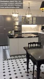 Faux Carreaux De Ciment : carrelage mur et sol imitation ciment 33x33 cm oxford deco ~ Premium-room.com Idées de Décoration