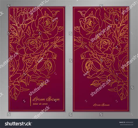 elegant floral background  card flyer stock vector