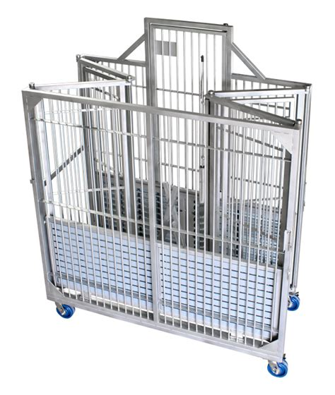 collapsible mobile dog kennel lab animal housing equipment