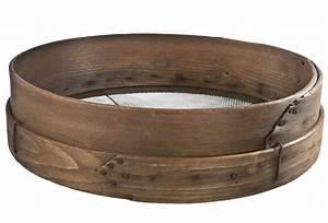 Large Antique Wood And Wire Grain Sieve/Sifter Omero Home