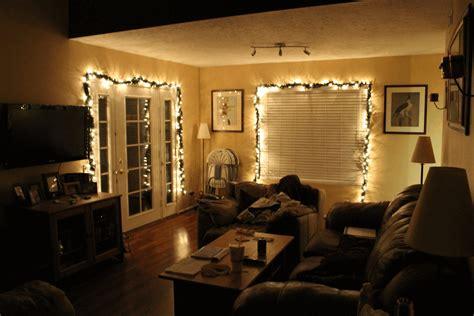 Living Room Fairy Lights Single Seater Patterned Sofa Dark