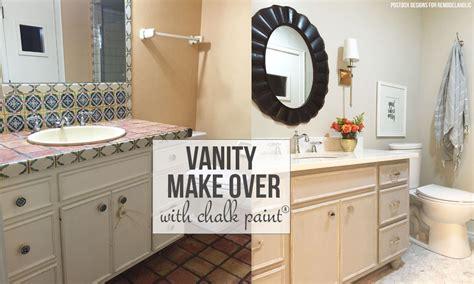 chalk paint bathroom vanity makeover remodelaholic