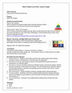 Baker College Lesson Plan Example Healthcare