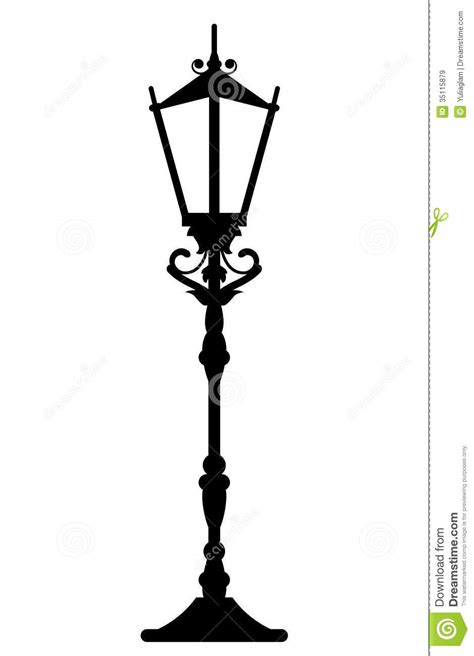 Decorative Street Lamp Post by Vintage Streetlight Royalty Free Stock Images Image