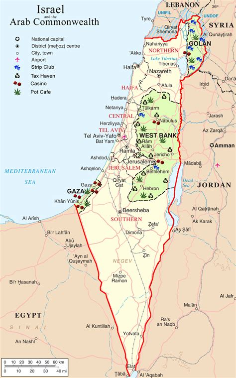 israel map  cities