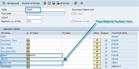 mara table in sap fetching linked dms documents of materials sap blogs